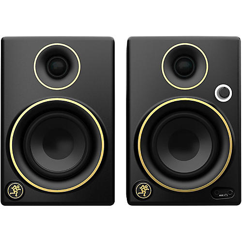 Mackie CR3 Limited Edition Gold Trim 3 in. Multimedia Monitors (Pair)-thumbnail