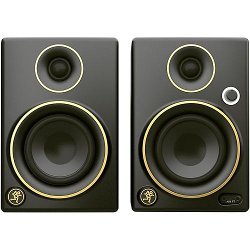 Mackie CR5BT Limited Edition Gold Trim 5 in. Multimedia Monitors with Bluetooth (Pair)-thumbnail