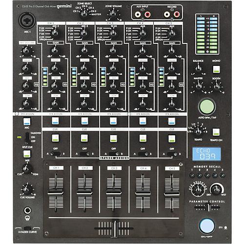 Gemini CS-02 Professional 5-Channel Stereo DJ Mixer