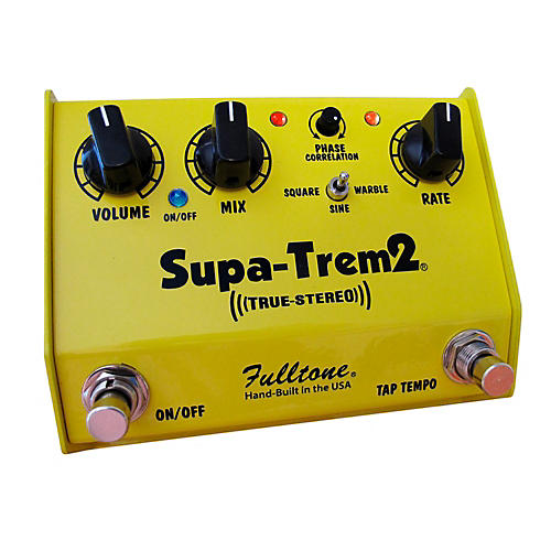 Fulltone Custom Shop CS Supa-Trem2 Stereo Tremolo w/ Tap Tempo Guitar Effects Pedal