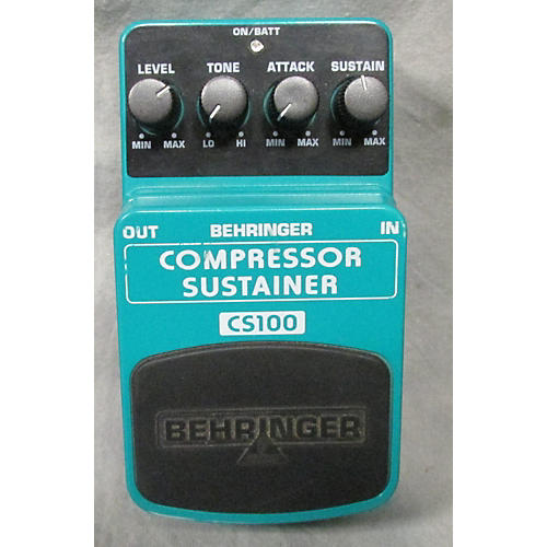 Behringer CS100 COMPRESSOR SUSTAINER Effect Pedal-thumbnail