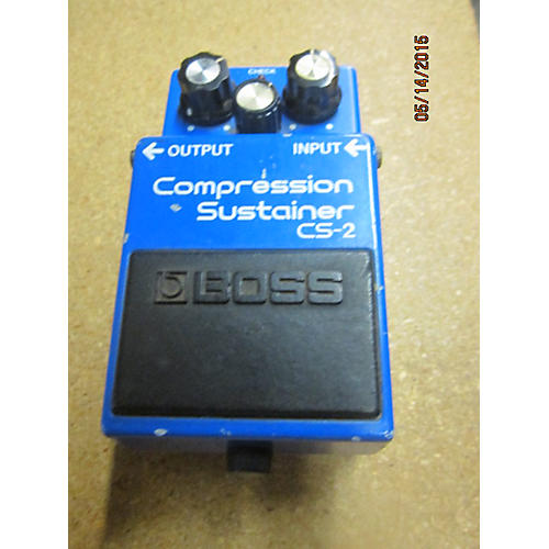 Boss CS2 Compressor Sustainer Baltic Blue Effect Pedal