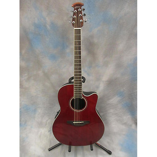 Ovation CS24-rR Candy Apple Red Acoustic Electric Guitar