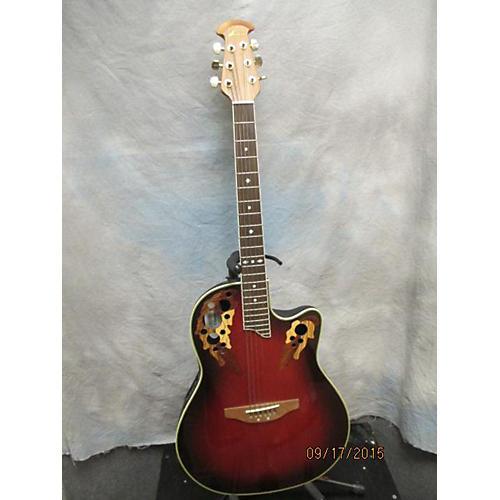 Ovation CS257 Crimson Red Trans Acoustic Electric Guitar
