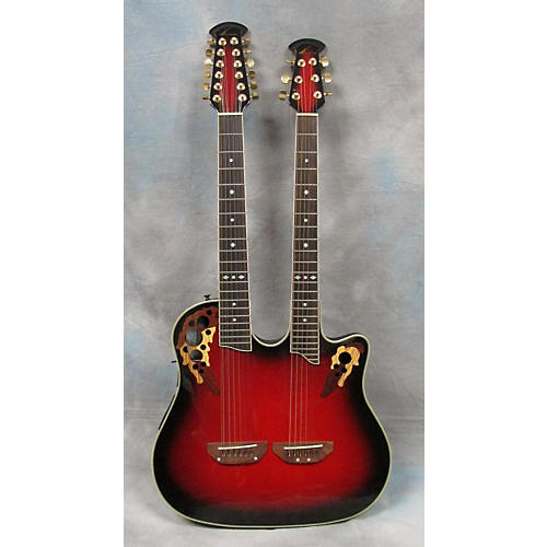 Ovation CSD225 Red 12 String Acoustic Electric Guitar-thumbnail