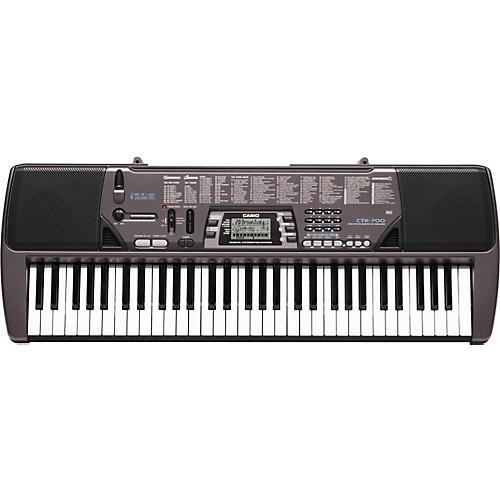 Casio CTK-700 61-Key Portable Keyboard with Mic Input