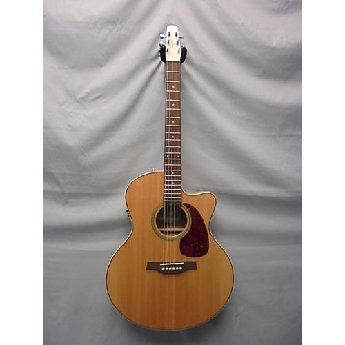 Seagull CW MJ Flame Maple HG QIT Acoustic Electric Guitar-thumbnail