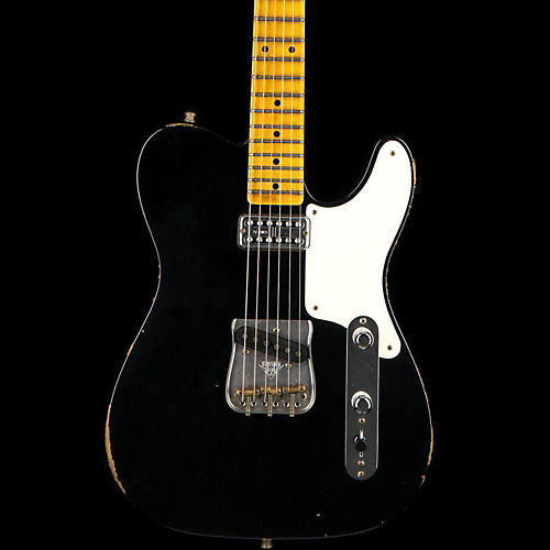 Fender Custom Shop Caballo Tono Limited Edition Relic Telecaster Electric Guitar Black Maple-thumbnail