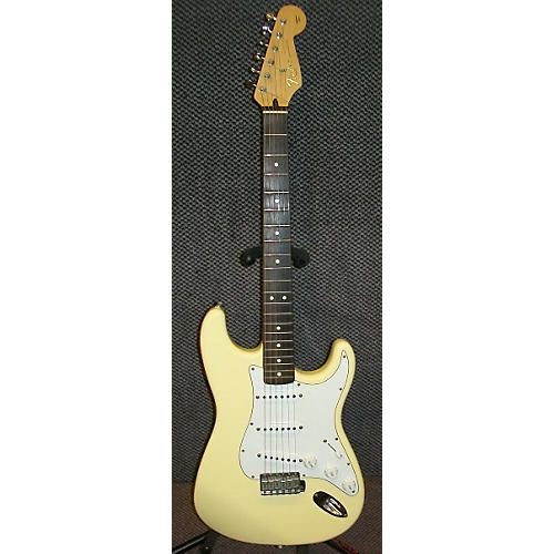 Fender California Series American Strat Vintage White Solid Body Electric Guitar Vintage White