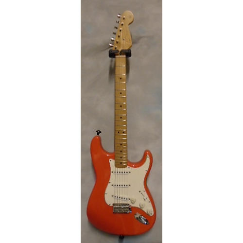 Fender California Series Stratocaster Fiesta Red Solid Body Electric Guitar-thumbnail