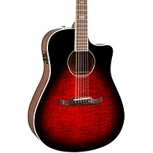 California Series T-Bucket 300CE Cutaway Dreadnought Acoustic-Electric Guitar Transparent Cherry Burst