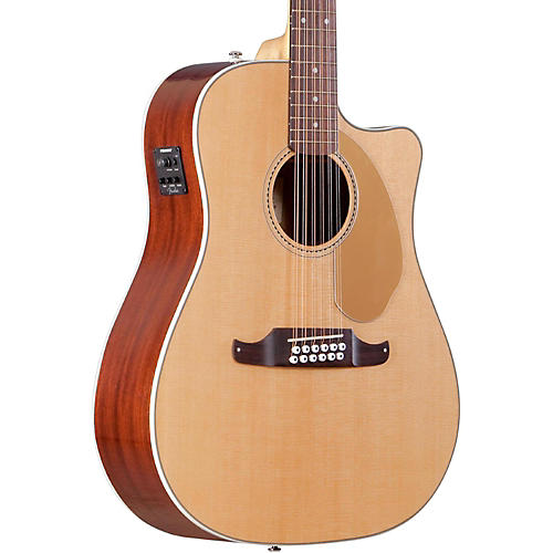 Fender California Series Villager SCE Cutaway Dreadnought 12-String Acoustic-Electric Guitar-thumbnail