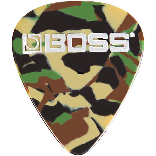 Boss Camo Celluloid Guitar Pick
