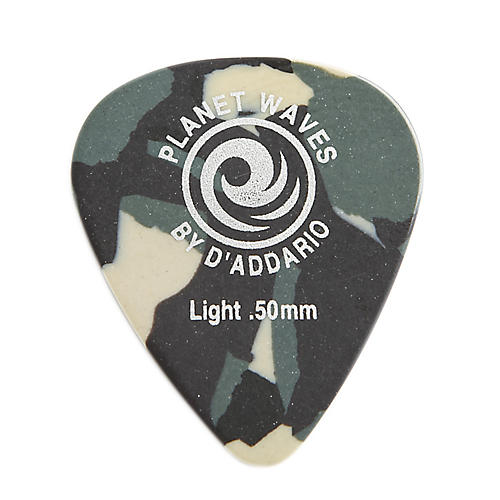 D'Addario Planet Waves Camouflage Celluloid Guitar Picks Light 25 Pack