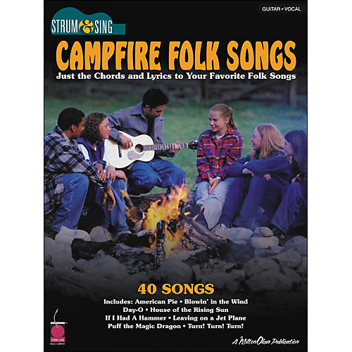 Cherry Lane Campfire Folk Songs - Strum & Sing Series for Easy Guitar-thumbnail
