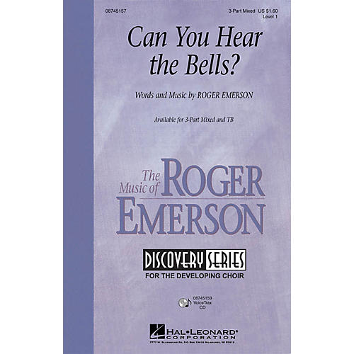 Hal Leonard Can You Hear the Bells? 3-Part Mixed composed by Roger Emerson
