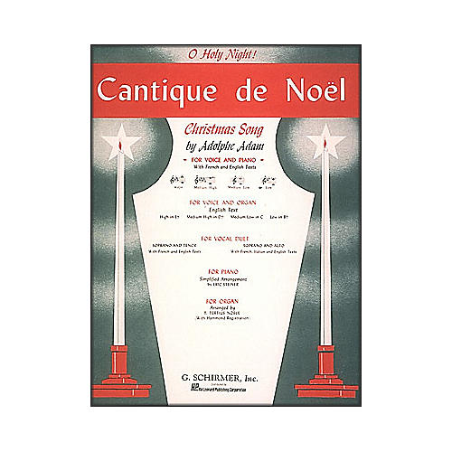 G. Schirmer Cantique De Noel (O Holy Night) In B Flat for Low Voice By Adam / Deis-thumbnail