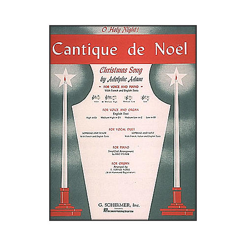 G. Schirmer Cantique De Noel (O Holy Night) In D Flat for Medium High Voice By Adam / Deis-thumbnail