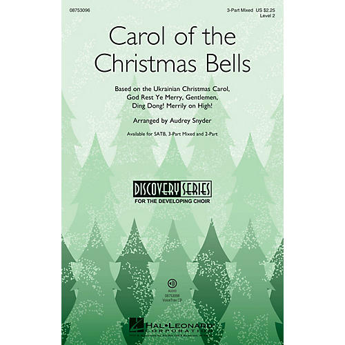 Hal Leonard Carol of the Christmas Bells SATB Arranged by Audrey Snyder