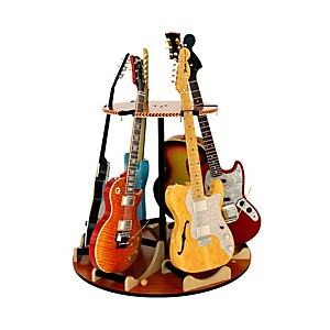 A&S Crafted Products Carousel Deluxe Multi-Guitar Stand Combined Unit by A&S Crafted Products