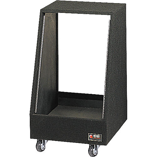 Odyssey Carpeted Studio Rack with Wheels  14 Spaces