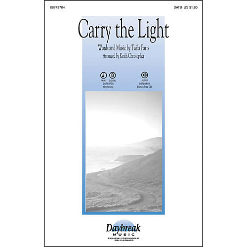 Hal Leonard Carry The Light SATB