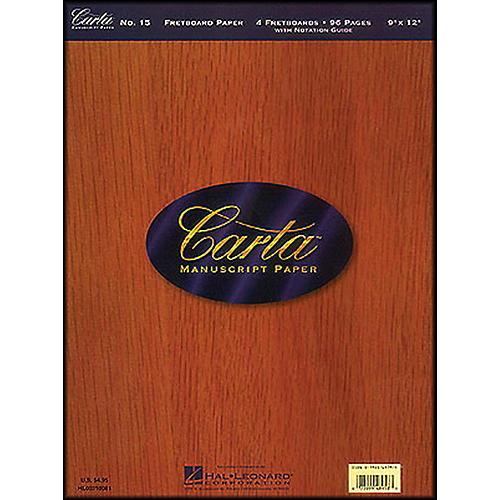 Hal Leonard Carta 15 Scorepad 9X12, Fretboard Paper 96 Pg, 4 Diagrams/Page Manuscript-thumbnail