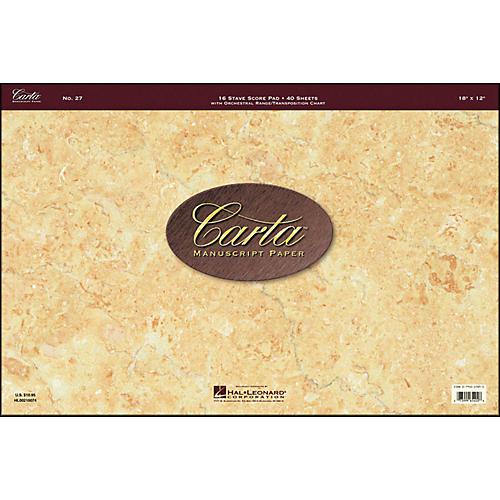 Hal Leonard Carta 27 Scorepad 18X12, 40 Sheet, 16 Stave Carta Manuscript-thumbnail