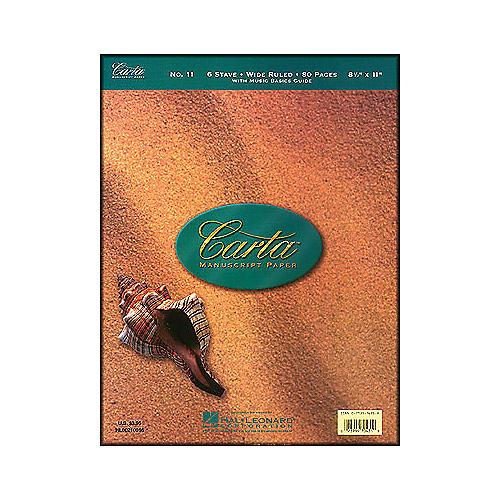 Hal Leonard Carta Manuscript 11 Writing Pad 8.5 X 11, 80 Pages, 6 Staves-thumbnail