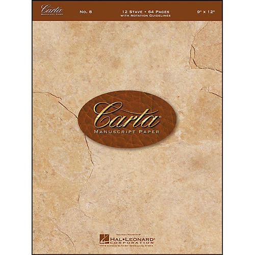 Hal Leonard Carta Manuscript Paper # 8 - Spiralbound, 9 X 12, 64 Pages, 12 Stave