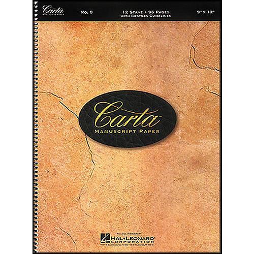 Hal Leonard Carta Manuscript Paper # 9 - Spiralbound, 9 X 12, 96 Pages, 12 Stave-thumbnail