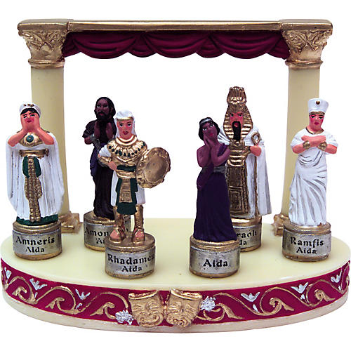 Gifts of Note Cast of Aida (6 pc. w/stage display)
