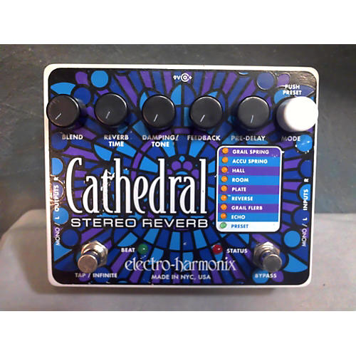 Electro-Harmonix Cathedral Stereo Reverb Effect Pedal-thumbnail
