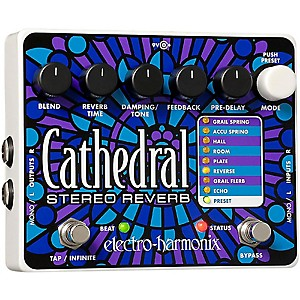 Electro-Harmonix Cathedral Stereo Reverb Guitar Effects Pedal by Electro Harmonix