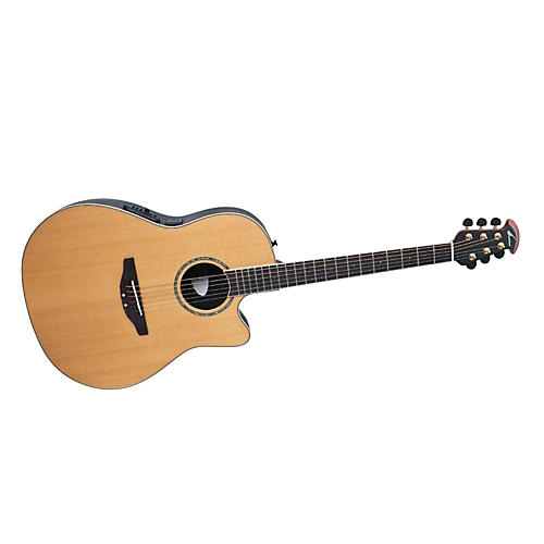 Ovation Celebrity Contour Body Acoustic-Electric Guitar Cedar Top Natural