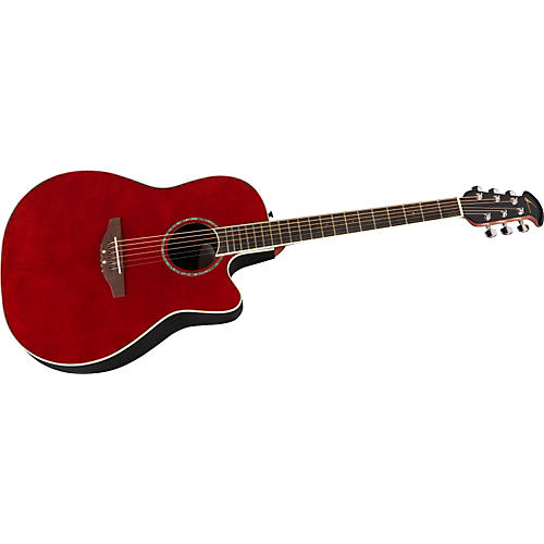 Ovation Celebrity GC057M Mid Depth Acoustic/Electric Guitar Ruby Red