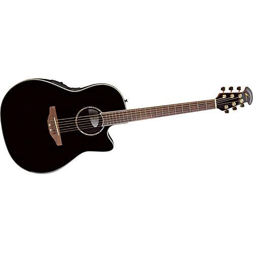 Ovation Celebrity SS Super Shallow Contour Acoustic-Electric Guitar Black