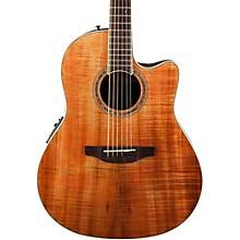 Ovation Celebrity Standard Plus Mid Depth Cutaway Acoustic-Electric Guitar Level 1 Figured Koa