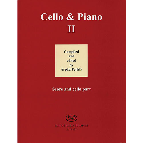 Editio Musica Budapest Cello and Piano (Volume 2) EMB Series