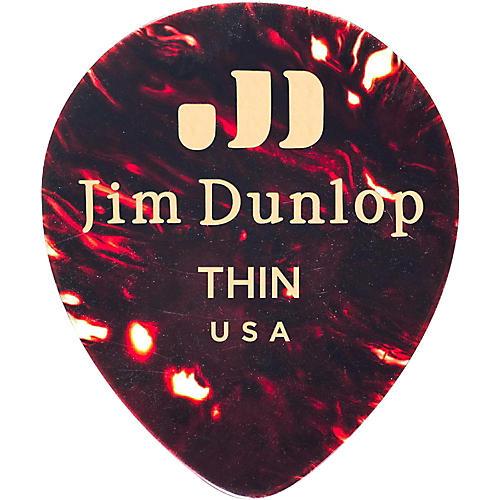 Dunlop Celluloid Teardrop, Shell Guitar Picks-thumbnail