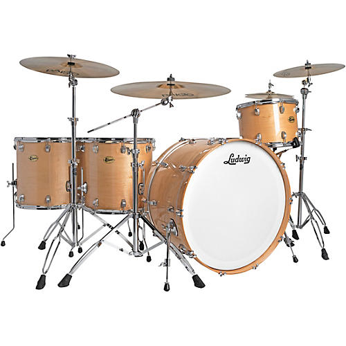 ludwig centennial zep 4 piece shell pack natural guitar center. Black Bedroom Furniture Sets. Home Design Ideas