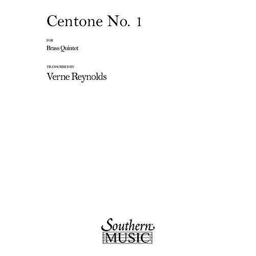 Southern Centone No. 1 (Brass Quintet) Southern Music Series Arranged by Verne Reynolds