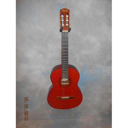 Fender Cg-7 Classical Acoustic Guitar Trans Orange