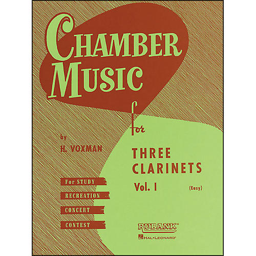 Hal Leonard Chamber Music Series Three Clarinets Vol. 1-thumbnail