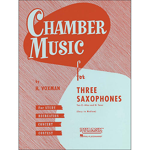 Hal Leonard Chamber Music Series Three Saxophones Two Altos And Tenor - Easy To Medium-thumbnail