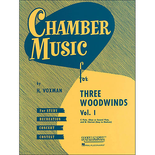 Hal Leonard Chamber Music Series for Three Woodwinds, Vol. 1 Flute, Oboe Or 2nd Flute, And Clarinet-thumbnail