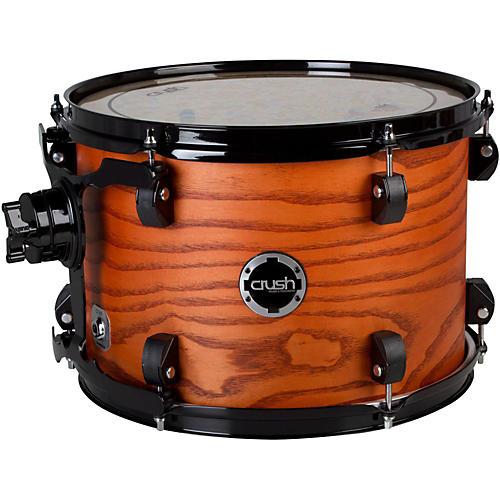 Crush Drums & Percussion Chameleon Ash Tom Satin Transparent Orange Lacquer 10x7