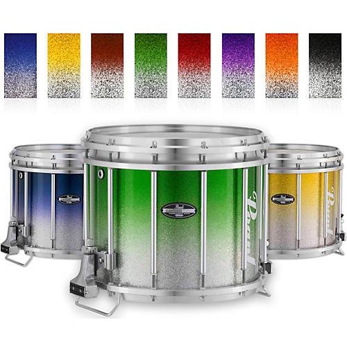Pearl Championship CarbonCore Varsity FFX Marching Snare Drum Fade Top Finish 13 x 11 in. Blue Silver #963-thumbnail