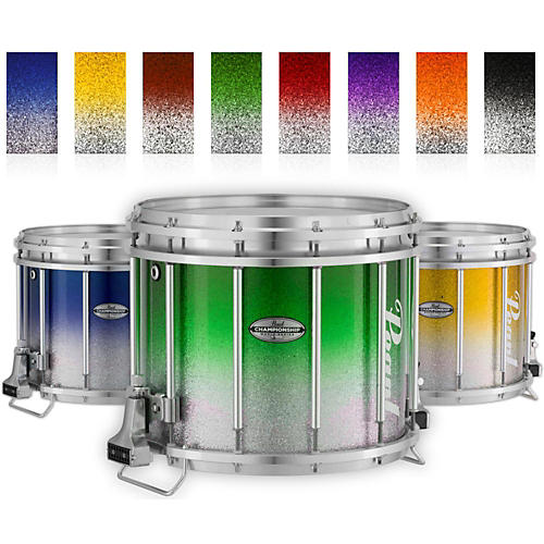 Pearl Championship Maple Varsity FFX Marching Snare Drum Fade Top Finish 14 x 12 in. Orange Silver #980-thumbnail