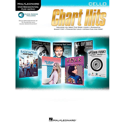 Hal Leonard Chart Hits For Cello - Instrumental Play-Along (Book/Online Audio)-thumbnail